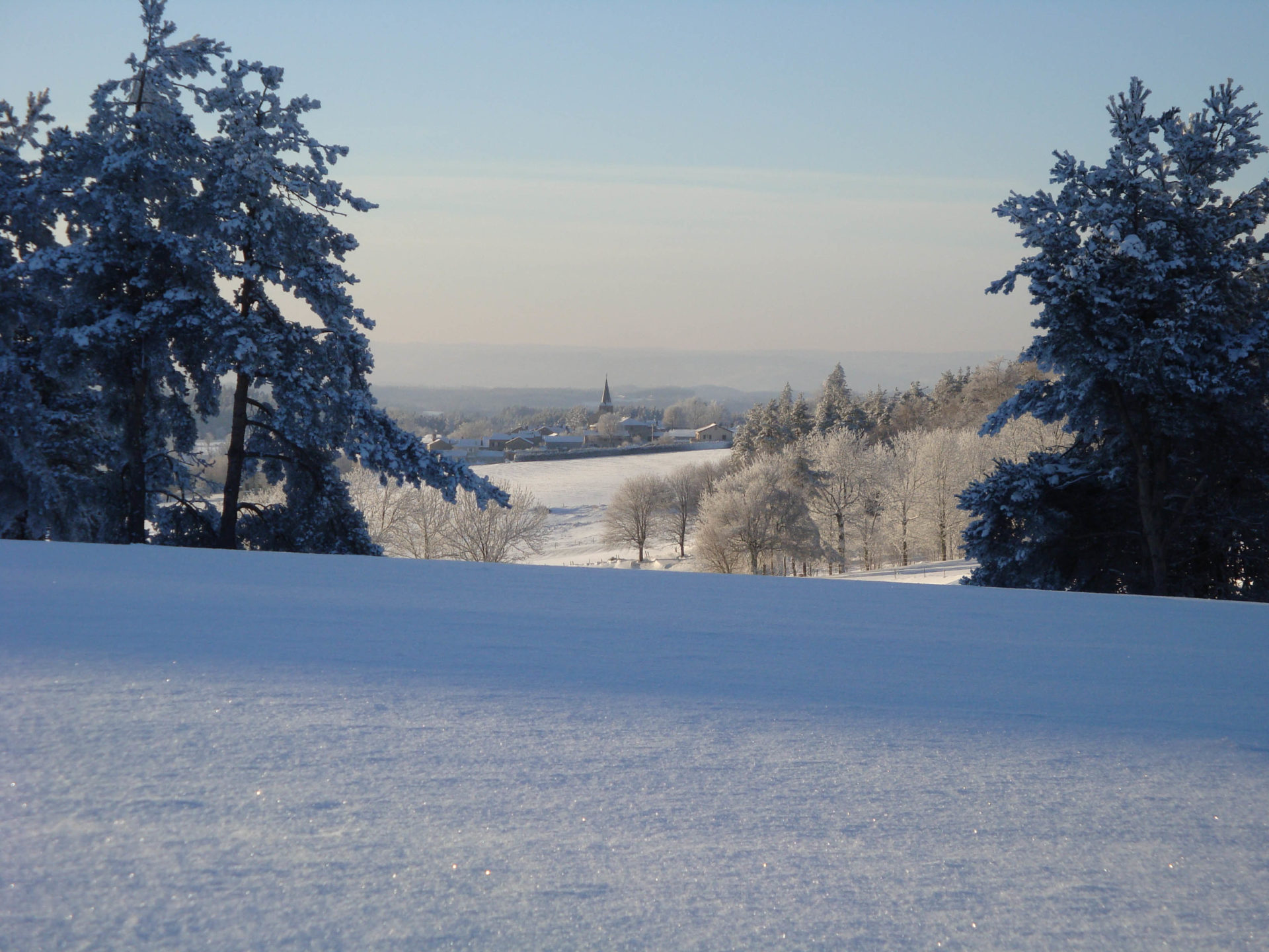 Montregard en Haute-Loire sous la neige